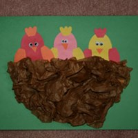 Baby Birds in Nest Craft