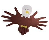 Handprint Bald Eagle Craft