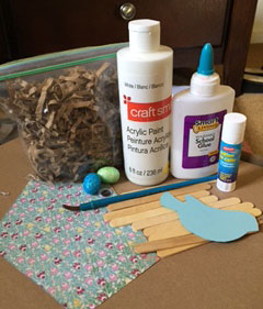 birds nest craft materials