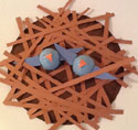 birds in nest craft