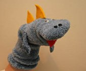 Dinosaur Sock Puppet Craft