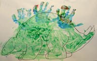 Handprint Dinosaur  Craft