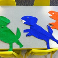 Paper Bag Dinosaur Craft