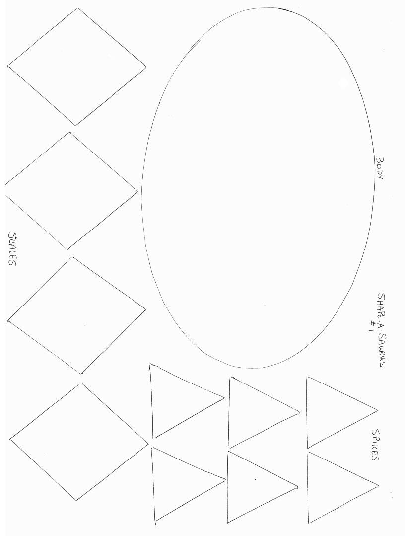 Dinosuarss Crafts - Print your Shape Dinosaur Template 1 | All Kids ...