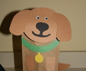 Paper Bag Puppet Dog Craft