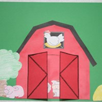 Peek-a-boo Barn Craft