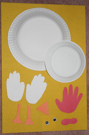handprint chicken craft