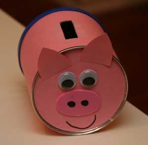 kids piggy bank craft