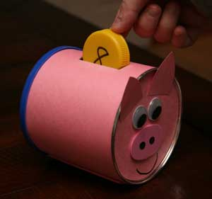 piggy bank numbers craft