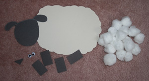Cotton Ball Sheep Craft All Kids Network