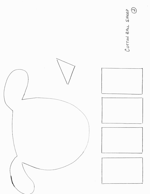 animals Crafts - Print your sheep craft template 2 | All
