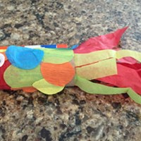 Tissue Paper Toilet Paper Roll Fish Craft