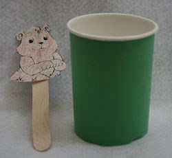 Pop Up Groundhog Craft