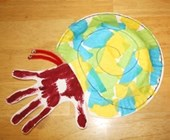 Handprint Hermit Crab Craft