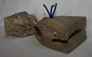 Paper Bag Whale Craft