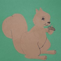 Paper Squirrel Craft