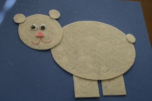 Shape Polar Bear Craft