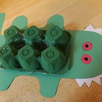Alligator Egg Carton Craft