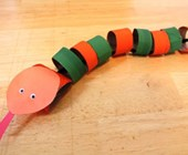 Paper Roll Snake Craft