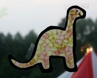 Tissue Paper Dinosaur Craft