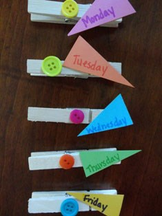 School Days Clothes Clips Craft