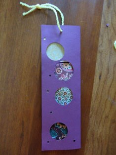 Polka Dot Fabric Bookmark Craft
