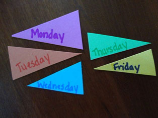 days of the week craft