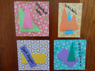 paper reminder magnets craft