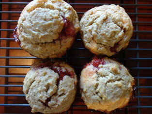 peanut butter and jelly muffins craft
