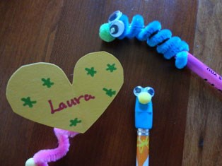 Crazy Creature Pencil Toppers Craft