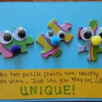 Uniquely You Puzzle Piece Magnet Craft
