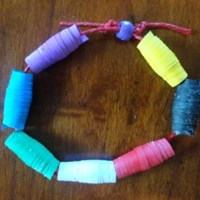 Colors of Faith Paper Bead Bracelet