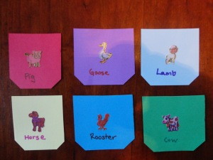 animal matching game craft