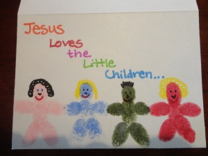 jesus loves the little children craft