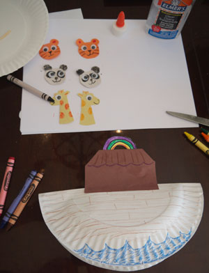 making Noah's Ark craft