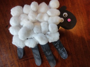 psalms 23 sheep craft