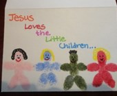 Jesus Loves the Little Children Fingerprint Card
