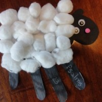 Psalms 23 Handprint Sheep Craft