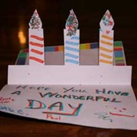 Homemade Birthday Card with Candles