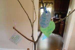 Decorative Birthday Tree Craft