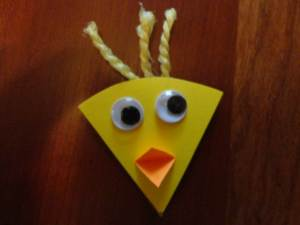 cardstock duck head