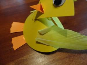 cardstock duck wings