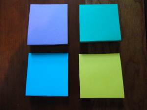 colored cardstock squares