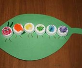 Bottle Cap Caterpillar Craft