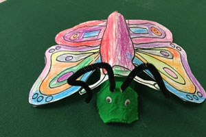 Caterpillar Turns into a Butterfly Craft
