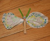 Coffee Filter Butterfly Craft