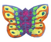 Folding Paper Butterfly Craft