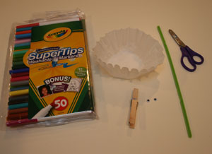 coffee filter butterfly craft materials