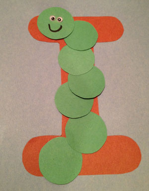 letter i inch worm craft all kids network