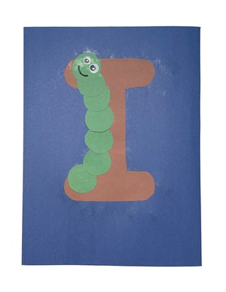 Letter I Inch Worm Craft